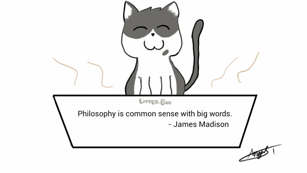 Philosophy is common sense with big words. -James Madison